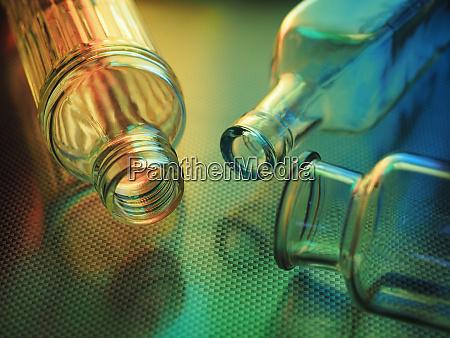 glass bottle colorful transparent