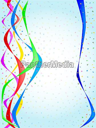ribbon and confetti party