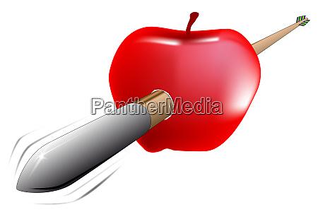 arrow and apple