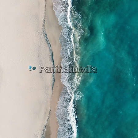 aerial view of a beach in