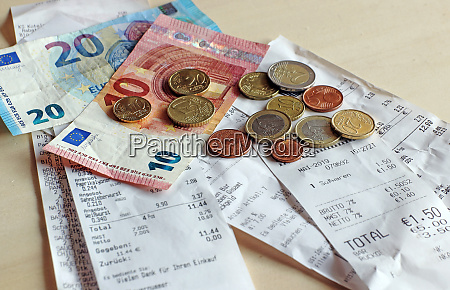 money and bills cash receipt obligation