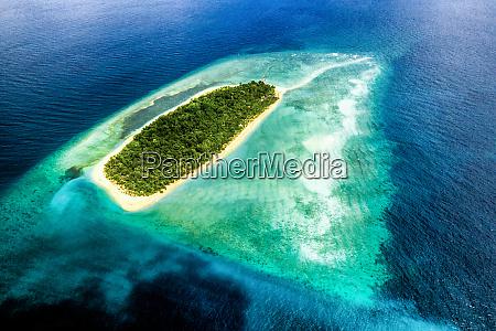 aerial view of uninhabited island bilang