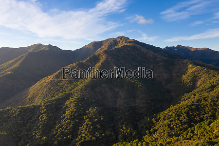 aerial view of mountains in coin