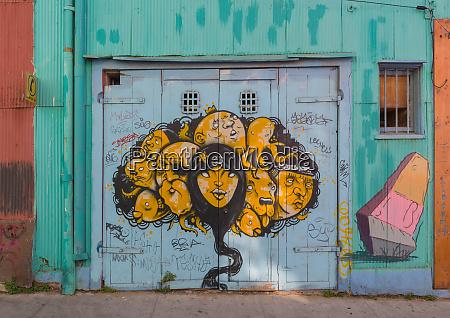 graffiti street art in the historic