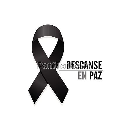 black ribbon rest in peace spanish