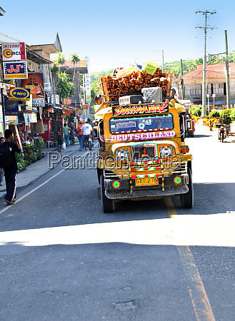jeepney on bohol in the philippines