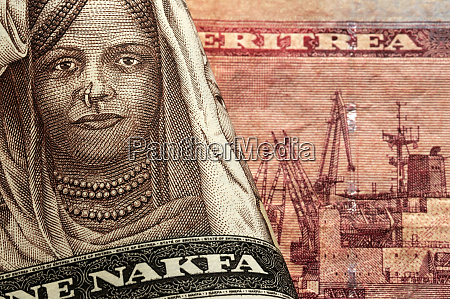 close up on eritrean currency