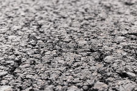 asphalt road focused foreground with