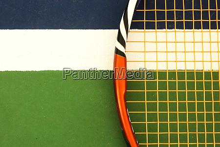 tennis racket on playground court markup
