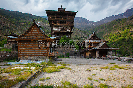 sangla fort hindu temple sangla