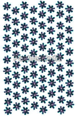 blue pink sunflower seeds flowers pattern