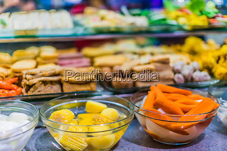 food ingredients and dishes sold in