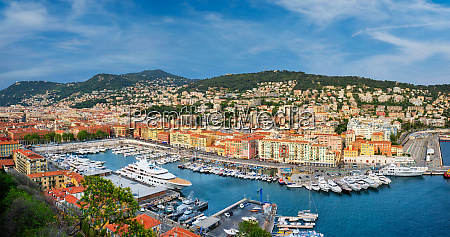 panorama of old port of nice