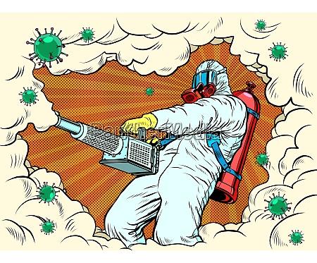 disinfection suit protection epidemic virus bacterium