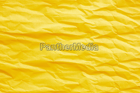 gold yellow crumpled paper