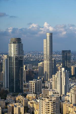 ramat gan and tel aviv skyline
