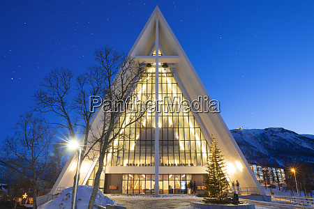 arctic cathedral in tromso northern norway
