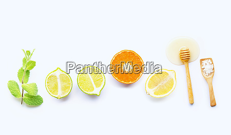 mint salt and honey with citrus