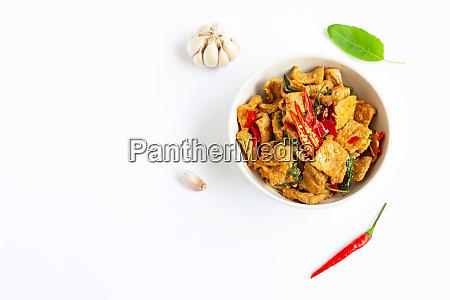 stir fried hot and spicy pork
