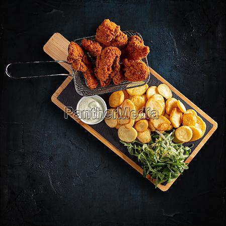 crispy fried chicken breast strips