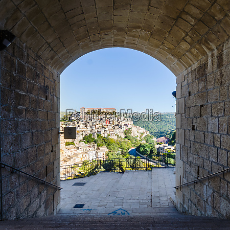 view of ragusa ibla medieval town