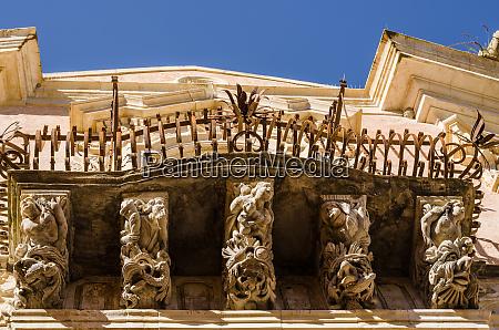 carved stone balcony italy