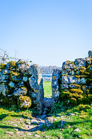 stile in old dry stone wall