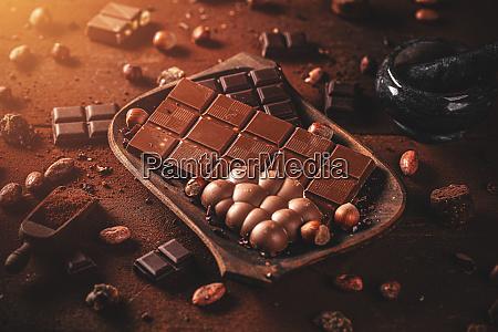chocolate pieces concept