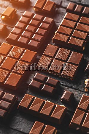 milk and hazelnut chocolate pieces