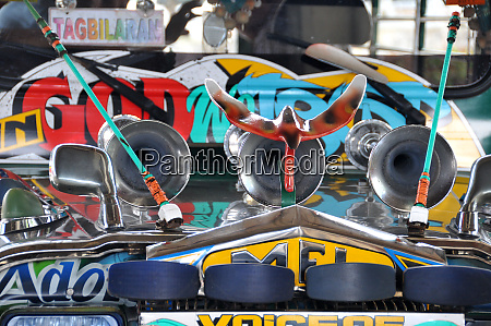 detail of a jeepney in the