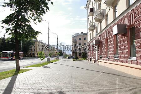 empty street in gomel city life