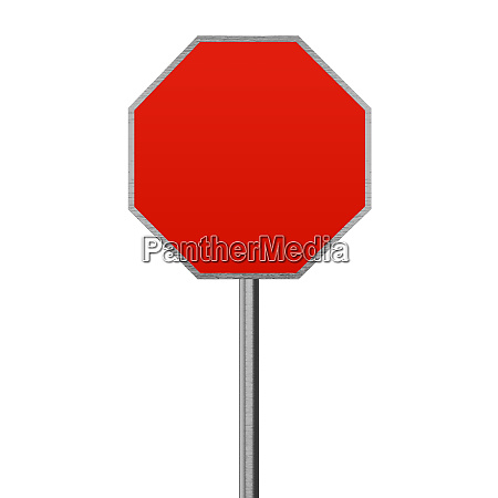 stop roadsign blank space copy space