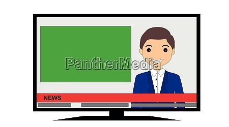 tv news man presenter