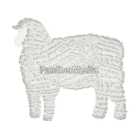 sheep silhouette icon flat
