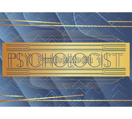 art deco psychologist text