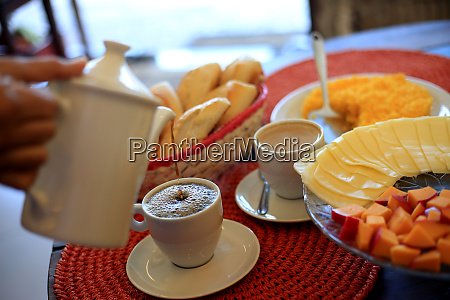 breakfast table in restaurant