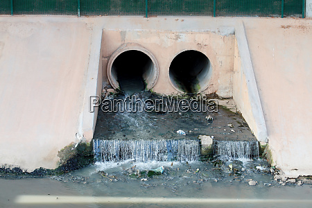 water contaminated by sewage