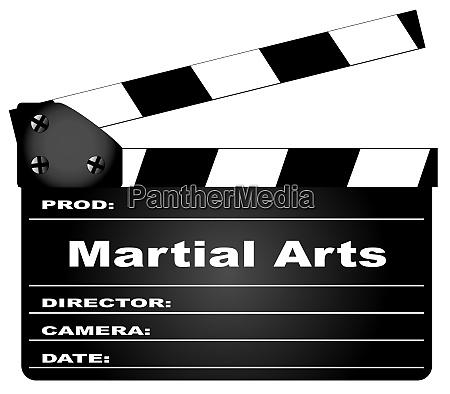 martial arts movie clapperboard