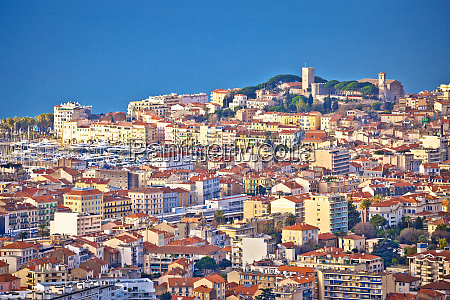 french riviera town of cannes panoramic