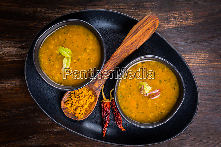red lentil curry soup with hot