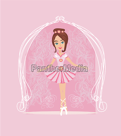 little ballerina card