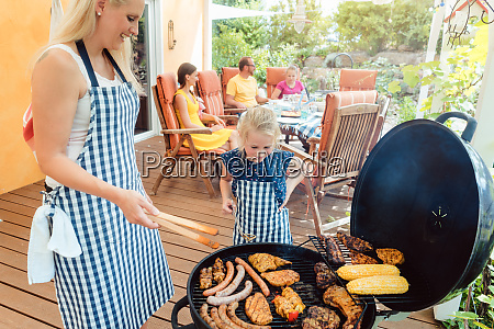 barbeque party in the garden with