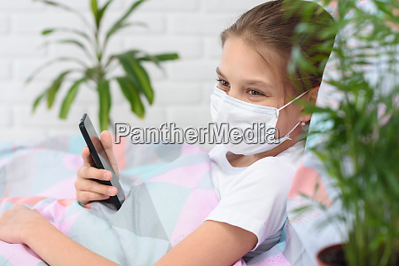 a recovering quarantined girl smiles and