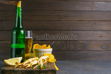 cheese with beer lemon and potato