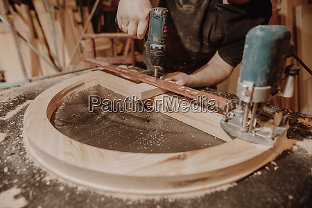 joinery concept professional joiner carpenter making