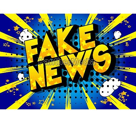 fake news comic book style