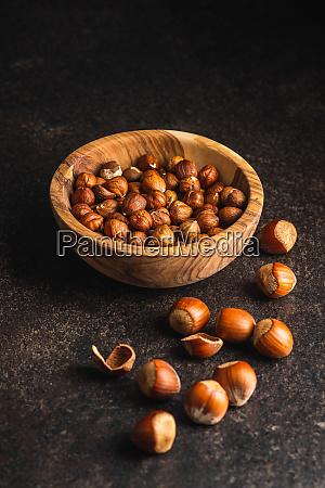 hazelnuts many nuts