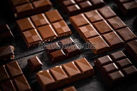 milk and hazelnut chocolate