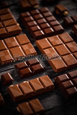 sweet milk and hazelnut chocolate