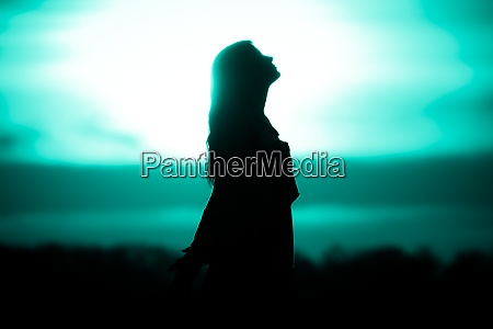 youth woman soul turquoise sun meditation